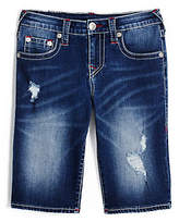 True Religion Big Kids Destroyed Denim Short