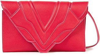 Elena Ghisellini Felina Pebbled-leather Shoulder Bag