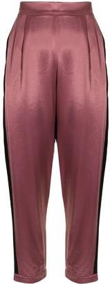 Fleur Du Mal Satin-Finish Straight Trousers