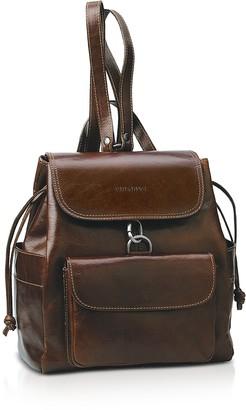 Chiarugi Front Pocket Genuine Leather Women's Backpack