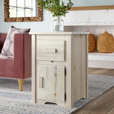 Loon Peak Abella End Table With Storage Color Ready To Finish Shopstyle
