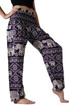 Bangkokpants Women's Yoga Pants Elephant Design US Size 0-12