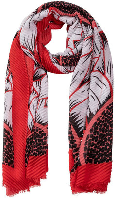 Gregory Ladner GNKR028M Pleated Daisy Print Scarf