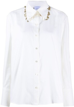 Patou Charm-Embellished Cotton Shirt