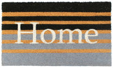 """Master Weave Gray Machine Tufted Home Striped Coir Doormat, 18""""x30"""""""