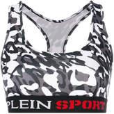 Plein Sport embroidered sports bra