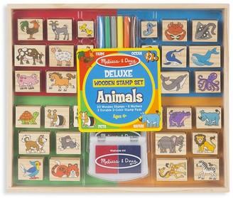 Melissa & Doug Deluxe Wooden Animals Stamp Set