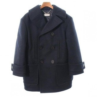 Balenciaga Blue Wool Coat for Women