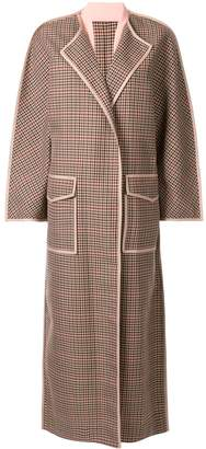 Bouguessa checked cape coat