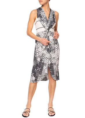 JALINE Ava Geometric Backless Short Dress