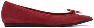 Repetto Red Suede Junon Ballerina Flats
