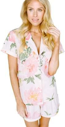 Plum Pretty Sugar Floral Blush Shortie Pajama Set