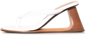 Marni Wedge Thong Sandal in Lily White