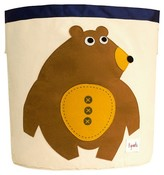 3 Sprouts Canvas Extra Large Round Storage Bin - Bear