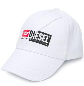 Diesel Logo Print Cap