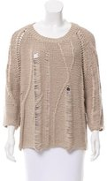 Tess Giberson Distressed Knit Sweater