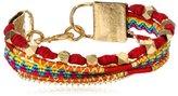"""Mercedes Salazar Blue and Brown Multi-Strand Bracelet, 7.5"""",Multi,"""