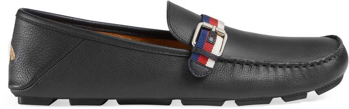 Gucci Leather driver with Sylvie Web buckle