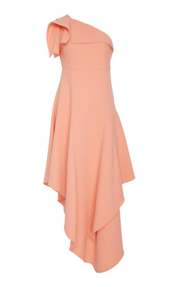 Oscar de la Renta One Shoulder Cocktail Dress
