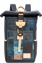 MASTERPIECE x FDMTL Denim Patchwork Backpack