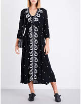Free People Fable embroidered gauze dress
