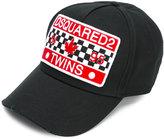 DSQUARED2 flap print cap - men - Cotton - One Size
