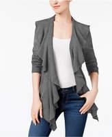 Karen Scott Petite Luxsoft Ruffled Open-Front Cardigan, Created for Macy's