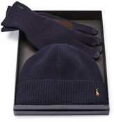 Polo Ralph Lauren Merino Wool Hat & Gloves Set