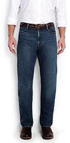 Classic Men's Ring Spun Comfort Waist Jeans-Navy/Eggshell