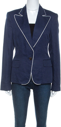 Ralph Lauren Navy Blue Linen Cynthia Jacket L
