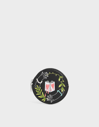 Charles & Keith By Teeteeheehee: Embroidered Round Pouch