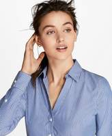 Brooks Brothers Non-Iron Striped Cotton Poplin Fitted Shirt