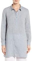 Eileen Fisher Women's Handkerchief Organic Linen Tunic Shirt