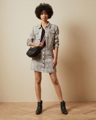 Ted Baker Metallic Stripe Mini Skirt