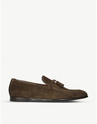 Doucal's DOUCALS Max flexi suede loafer