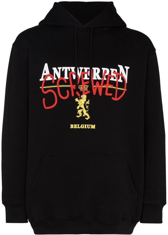 Vetements Antwerp Screwed print hoodie