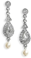 Ben-Amun Women's Imitation Pearl & Crystal Drop Earrings
