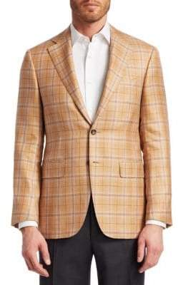 Canali Cashmere-Blend Check Jacket