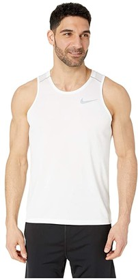 Nike Dry Miler Tank Top (White/Vast Grey/Reflective Silver) Men's Sleeveless