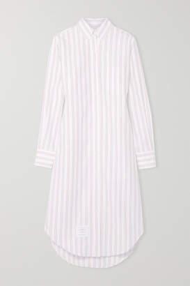 Thom Browne Striped Cotton Oxford Dress - White
