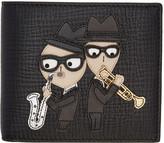 Dolce & Gabbana Black Designers Saxophone Wallet