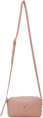 Jimmy Choo Pink Croc Hale Bag