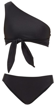 Adriana Degreas Asymmetric Mid-rise Bikini - Womens - Black