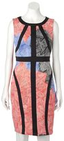 Jax Women's Abstract Floral Sheath Dress