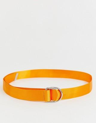 Asos DESIGN neon d ring waist and hip belt