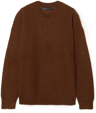 Sally LaPointe Oversized Ribbed Mohair-blend Sweater