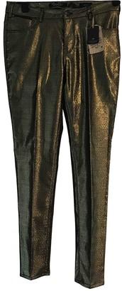 Scotch & Soda Gold Cloth Trousers for Women