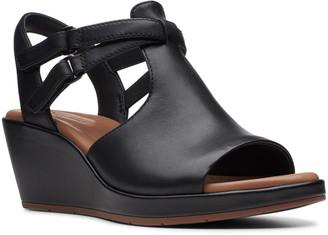 Clarks R) Un Plaza Way Wedge Sandal