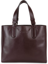 Lanvin logo embossed tote - women - Leather - One Size