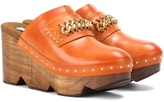 Stella McCartney Wood and faux leather clogs